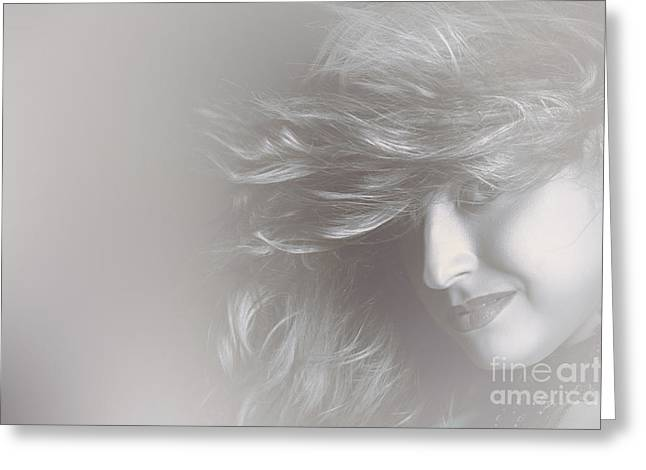 Glamorous Girl With Luxury Salon Hair Style Greeting Card by Jorgo Photography - Wall Art Gallery