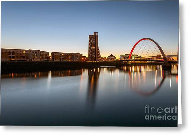 Glasgow Greeting Cards - Glasgow Clyde Arc  Greeting Card by John Farnan