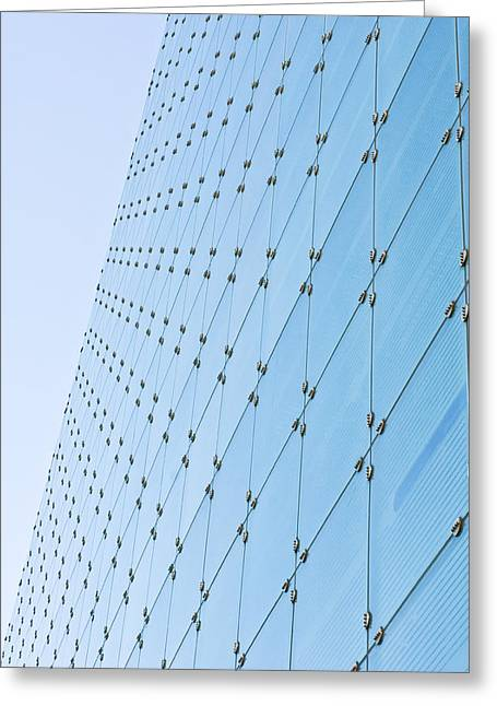Glass Reflecting Greeting Cards - Glass building Greeting Card by Tom Gowanlock
