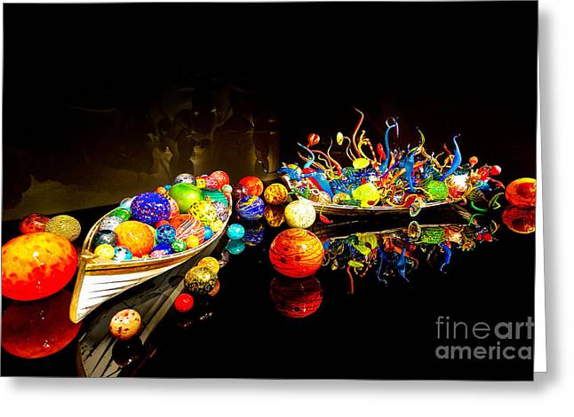"""glass Museum"" Greeting Cards - Glass Reflections Greeting Card by Ken Andersen"