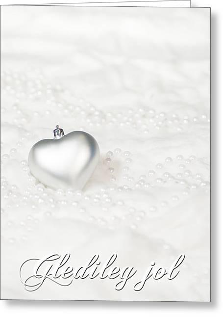 Kjg Greeting Cards - Gledileg jol Iceland Greeting Card by Mirra Photography