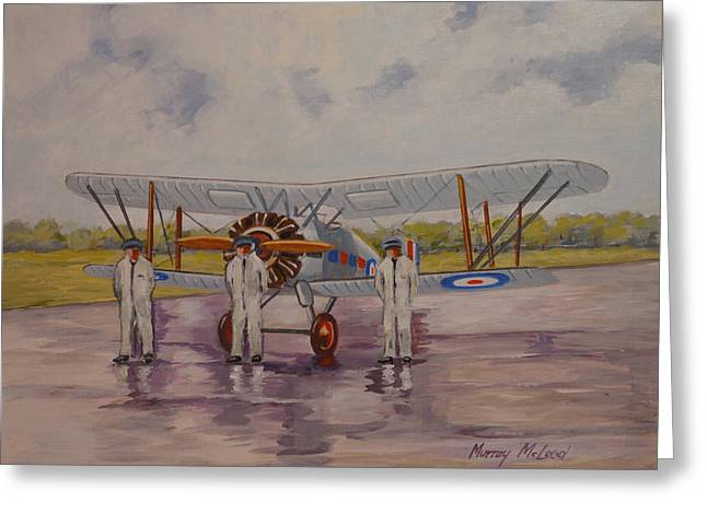 Murray Mcleod Paintings Greeting Cards - Gloster Gamecock Greeting Card by Murray McLeod