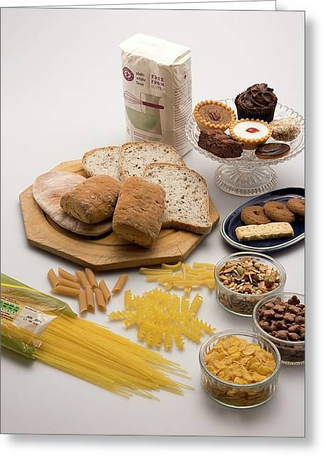 Gluten-free Foods Greeting Card by Sheila Terry