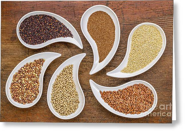 Gluten Free Greeting Cards - Gluten Free Grain Abstract Greeting Card by Marek Uliasz