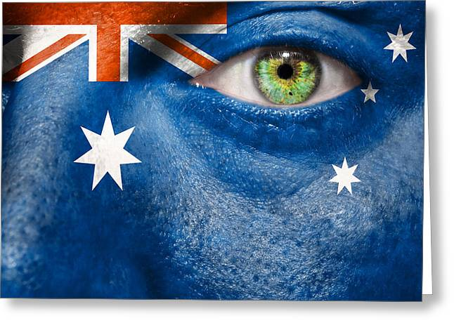 Fanatic Photographs Greeting Cards - Go Australia Greeting Card by Semmick Photo