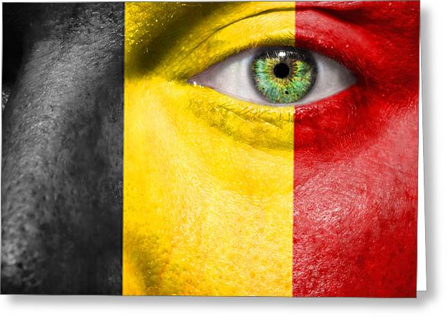 Fanatic Photographs Greeting Cards - Go Belgium Greeting Card by Semmick Photo