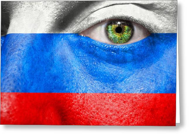 Fanatic Photographs Greeting Cards - Go Russia Greeting Card by Semmick Photo