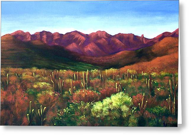 Desert Greeting Cards Greeting Cards - Gods Palette Greeting Card by Anthony Falbo