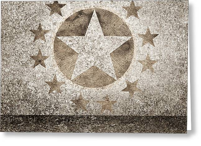 Gold Star Hollywood Event Background. Walk Of Fame Greeting Card by Jorgo Photography - Wall Art Gallery