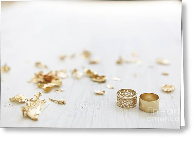 Incentive Greeting Cards - Gold wedding rings 3 Greeting Card by Gal Eitan