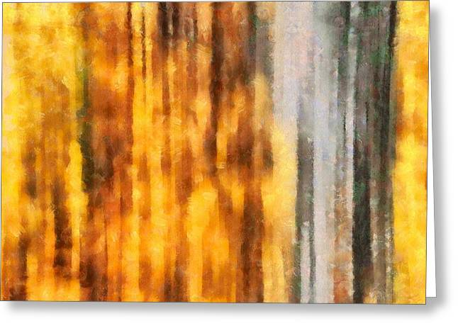 Golden Days Of Autumn Greeting Card by Dan Sproul