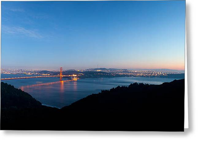 Golden Gate Bridge Across The Bay Greeting Card by Panoramic Images