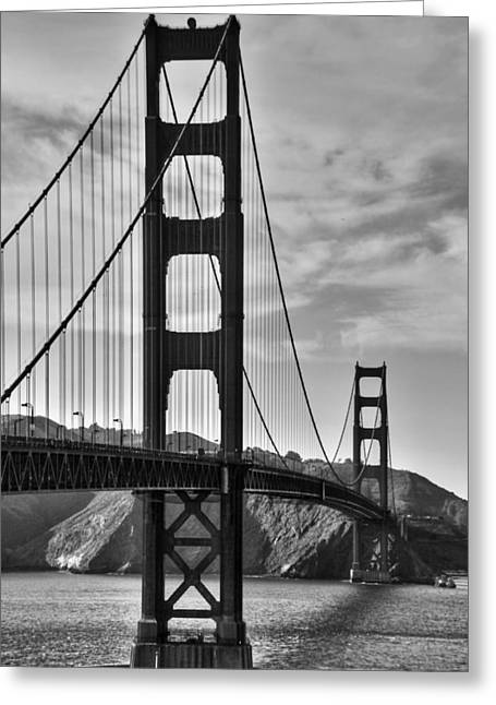 Famous Bridge Greeting Cards - Golden Gate Bridge Greeting Card by Aidan Moran