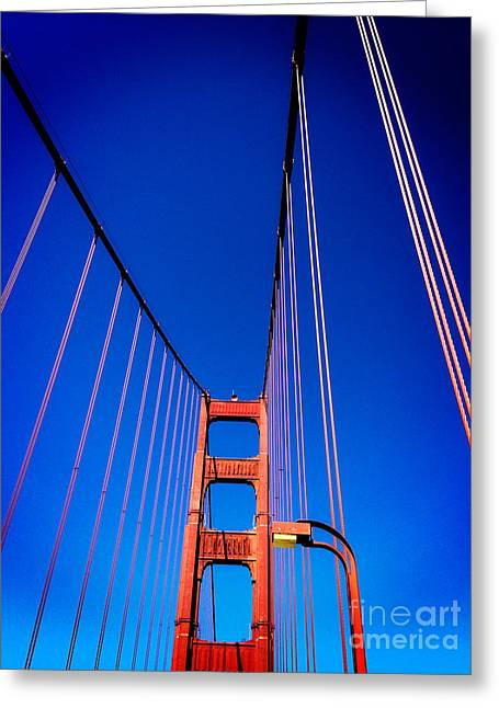 Golden Greeting Cards - Golden Gate Bridge Greeting Card by Colin and Linda McKie