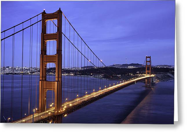 Downtown San Francisco Greeting Cards - San Francisco Golden Gate Bridge  Greeting Card by Diana Weir
