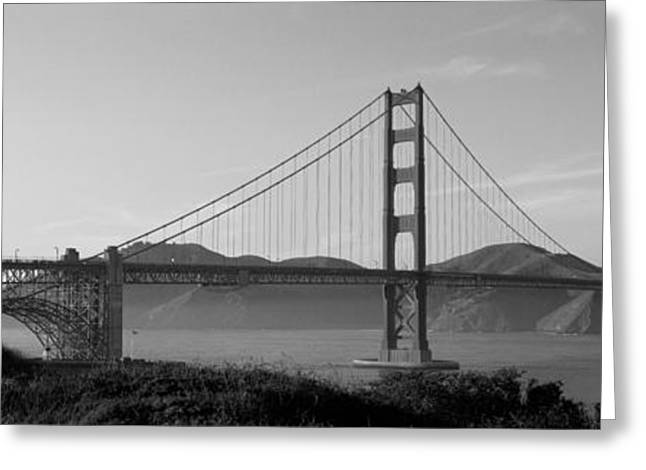 San Francisco Images Greeting Cards - Golden Gate Bridge San Francisco Ca Usa Greeting Card by Panoramic Images
