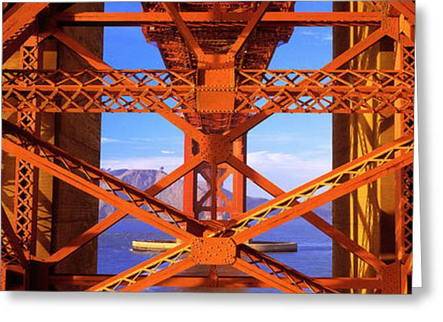 20th Greeting Cards - Golden Gate Bridge, San Francisco Greeting Card by Panoramic Images