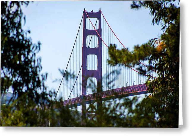 Sausalito Greeting Cards - Golden Gate Bridge Greeting Card by SFPhotoStore