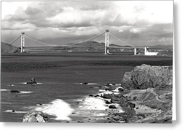 Golden Gate Bridge Greeting Card by Underwood Archives