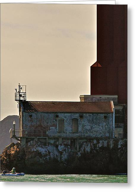 Bay Bridge Greeting Cards - Golden Gate Foghorn Greeting Card by Steven Lapkin