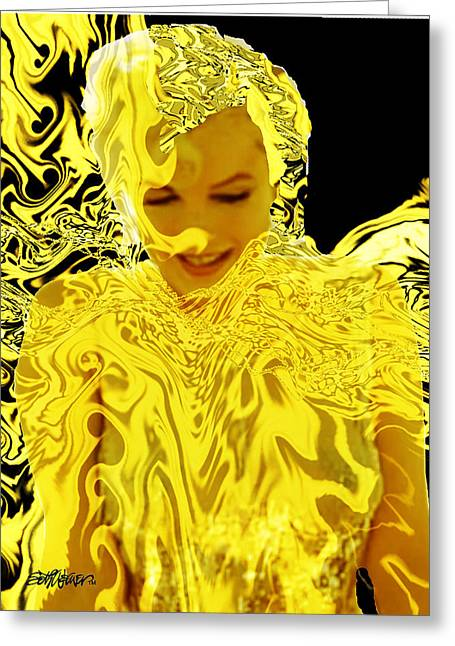 Seth Weaver Greeting Cards - Golden Goddess Greeting Card by Seth Weaver