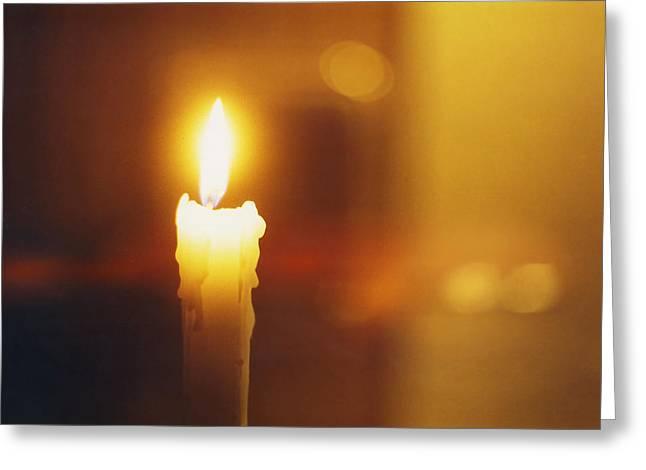 Golden Light Greeting Card by Hartmut Jager