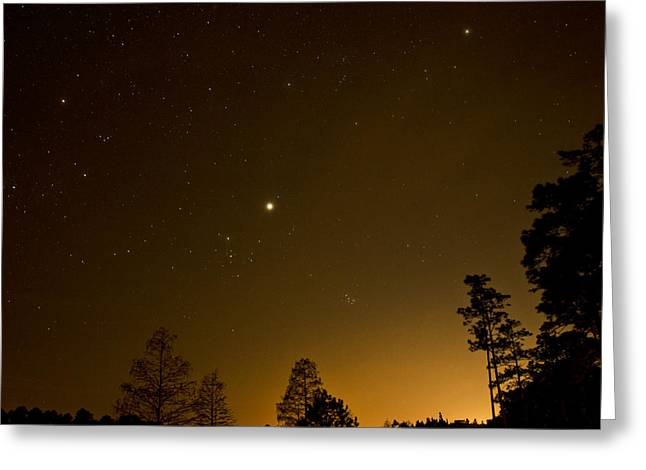 Night Photography Workshop Greeting Cards - Golden Night Sky  Greeting Card by Rena Johnson