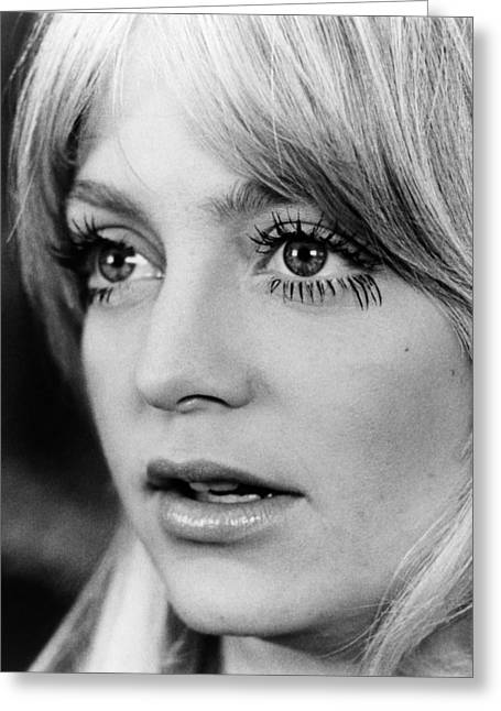 Goldie Hawn Greeting Cards - Goldie Hawn in Shampoo  Greeting Card by Silver Screen