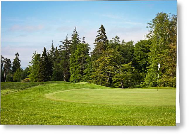 Paradise Meadow Greeting Cards - Golf course Greeting Card by Tom Gowanlock