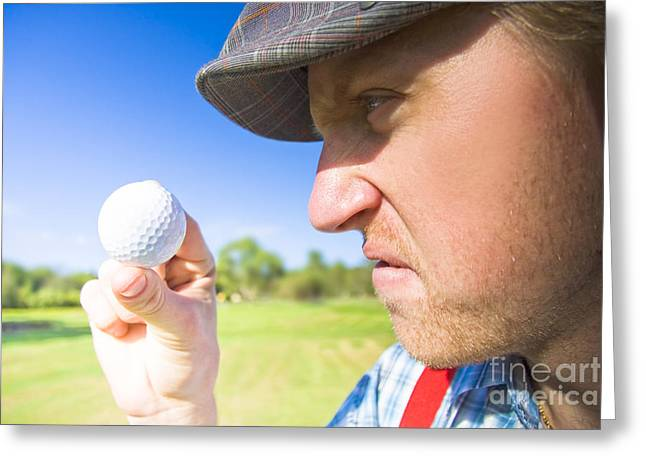 Golf Mid Game Crisis Greeting Card by Jorgo Photography - Wall Art Gallery