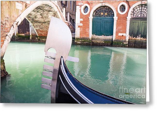 Prow Greeting Cards - Gondola in Venice Greeting Card by Matteo Colombo