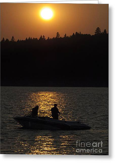 Canada Sports Greeting Cards - Gone Fishing Greeting Card by Bob Christopher