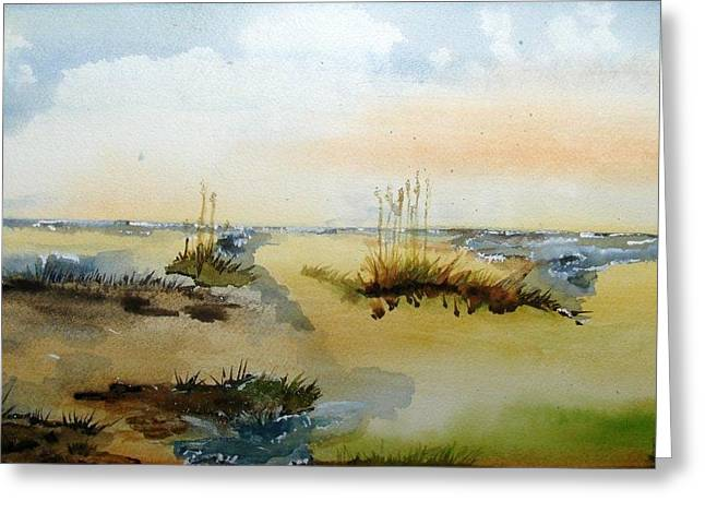 My Ocean Paintings Greeting Cards - Gone To The Beach Greeting Card by Dawn Derringer