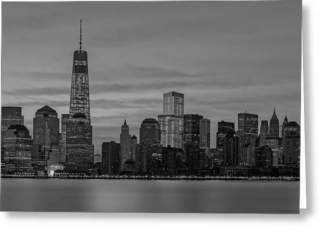 New York Skyline Greeting Cards - Good Morning New York City Greeting Card by Susan Candelario