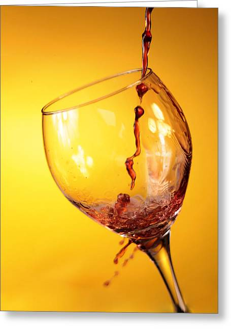 Red Wine Splash Greeting Cards - Got Wine Greeting Card by Michael Ledray