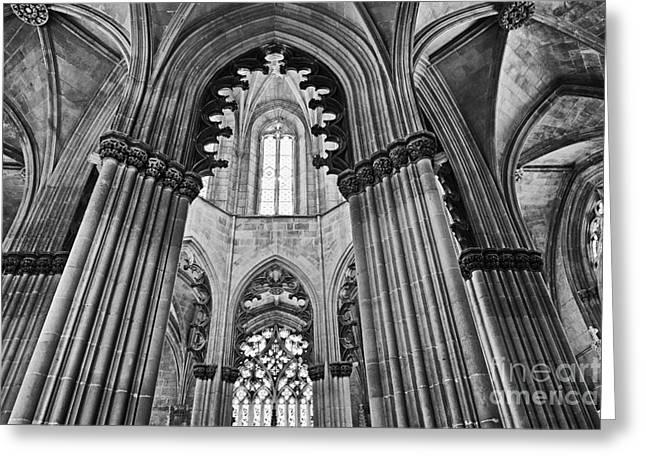 Church Founder Greeting Cards - Gothic Columns Greeting Card by Jose Elias - Sofia Pereira