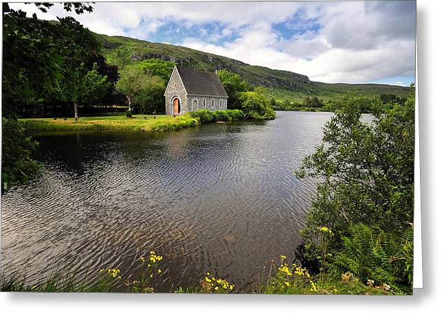 Gougane Barra Church Greeting Cards - Gougane Barra Greeting Card by Michael Walsh