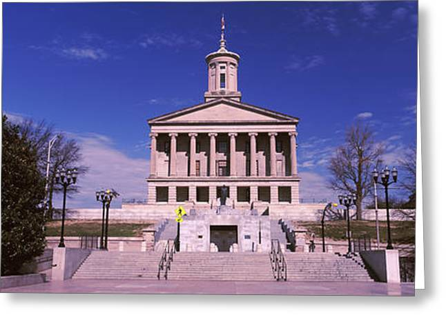 Tennessee Landmark Greeting Cards - Government Building In A City Greeting Card by Panoramic Images