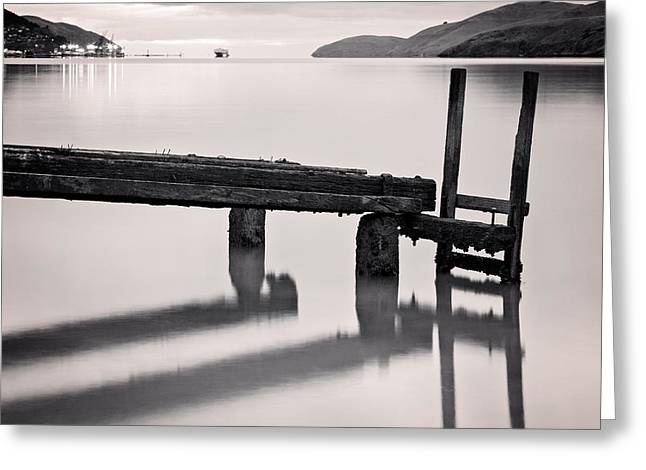 Governor Island Greeting Cards - Governors Bay Lyttelton Harbour Greeting Card by Colin and Linda McKie