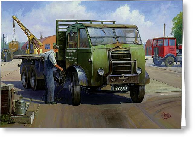Lorries Greeting Cards - GPO Foden Greeting Card by Mike  Jeffries