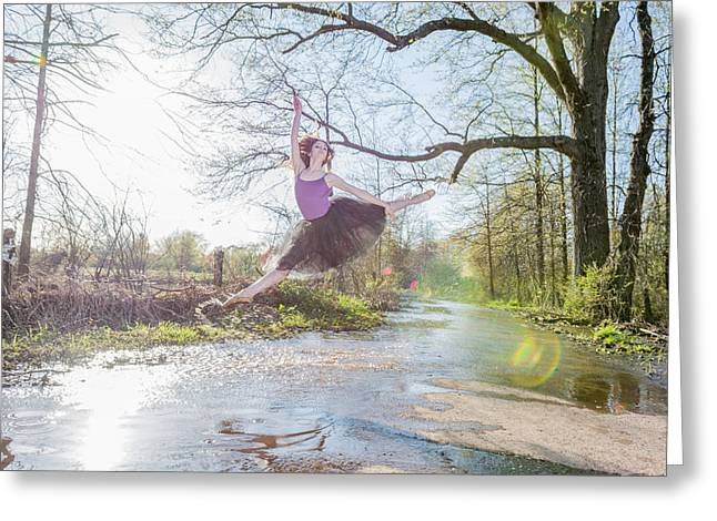Ballet Dancers Photographs Greeting Cards - Graceful power Greeting Card by Ryan Crane
