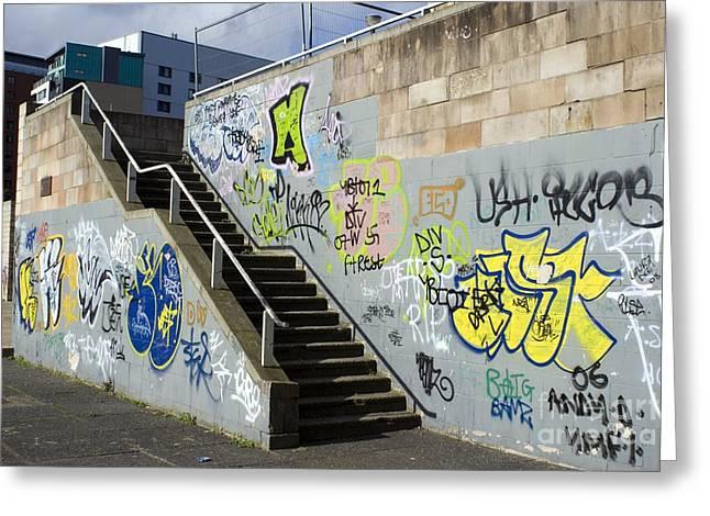 Graffiti Steps Greeting Cards - Graffiti Greeting Card by Mark Williamson