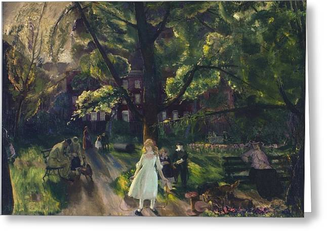 istic Photography Paintings Greeting Cards - Gramercy Park Greeting Card by Celestial Images