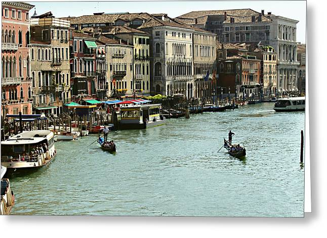 Gondolier Greeting Cards - Grand Canal Greeting Card by Ellen Henneke