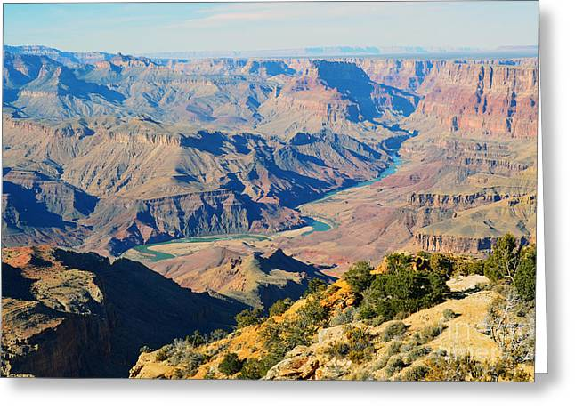 Grand Canyon Greeting Cards - Grand Canyon Eastern Sunset View Greeting Card by Shawn O