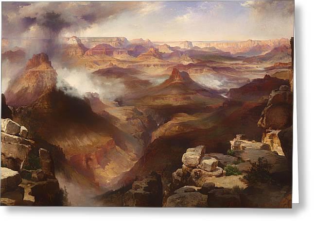 Utah Artwork Greeting Cards - Grand Canyon of the Colorado River Greeting Card by Thomas Moran