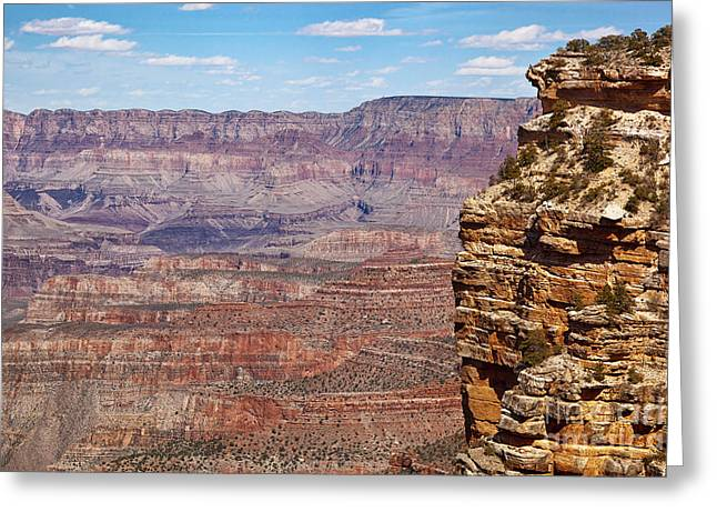 Hiking Greeting Cards - Grand Canyon view Greeting Card by Jane Rix