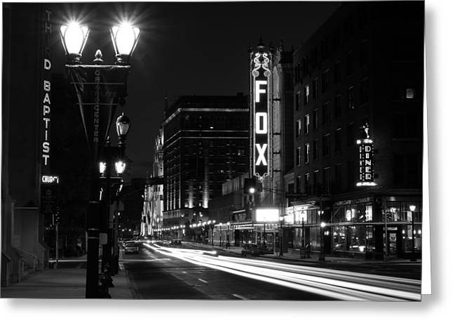 Theater Greeting Cards - Grand Center  Greeting Card by Scott Rackers