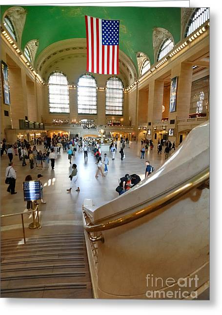 Lobby Greeting Cards - Grand Central Station New York city Greeting Card by Amy Cicconi