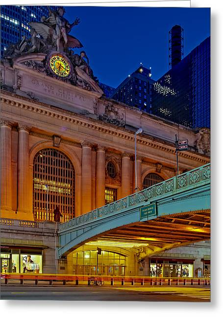 Clock Greeting Cards - Grand Central Terminal GCT NYC Greeting Card by Susan Candelario